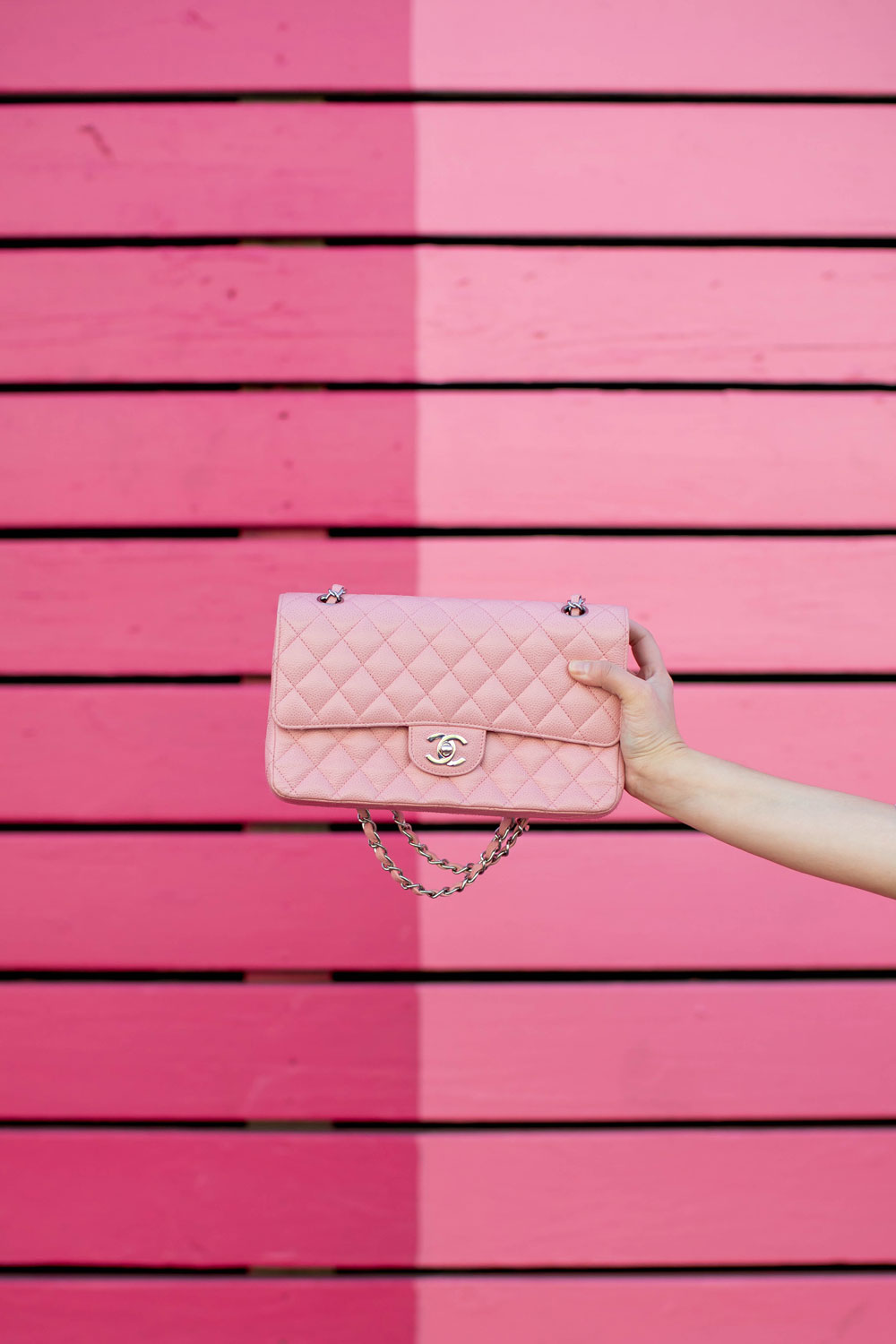 Pink Chanel Flap Chain Bag