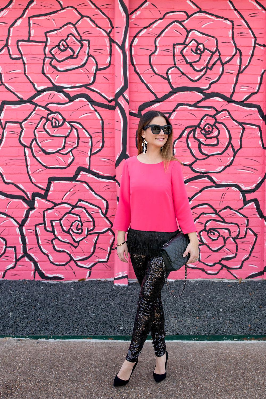 Pink Roses Mural Houston