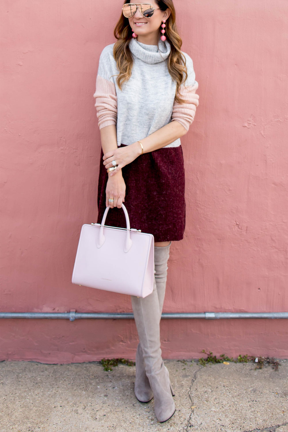 Pink Strathberry Midi Tote