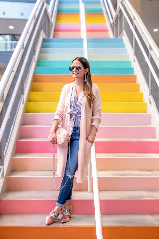 Sugar and Cloth Rainbow Stairs Houston