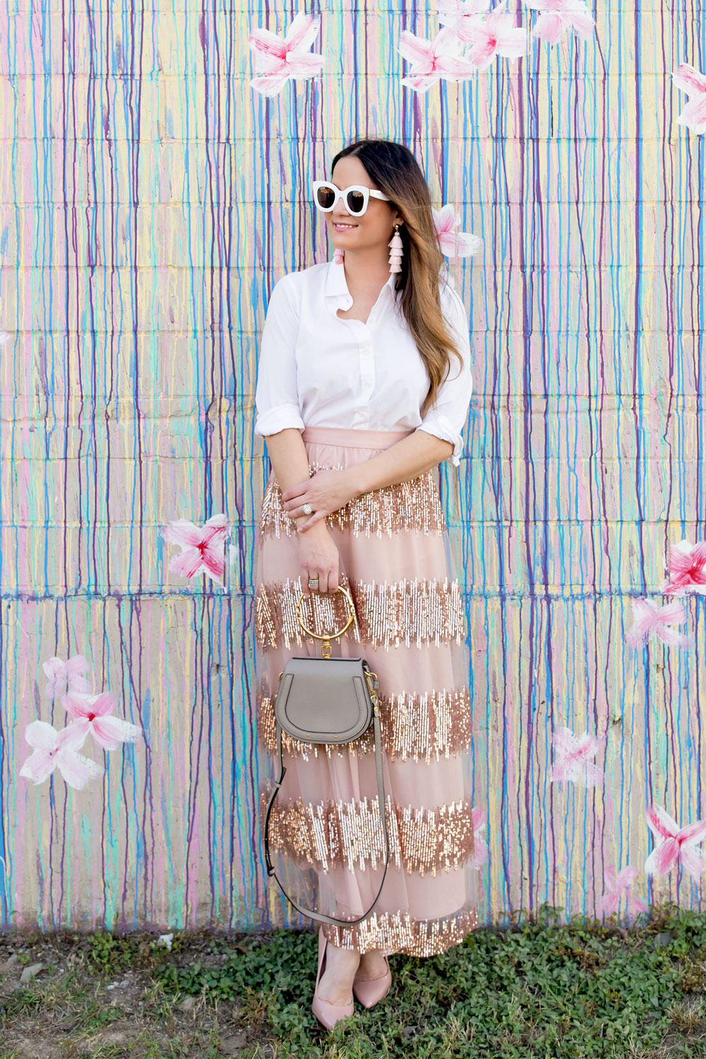 Anthropologie Sequin Maxi Skirt