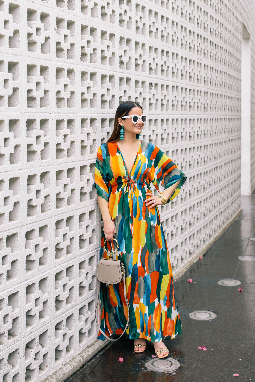 Anthropologie Watercolor Print Caftan