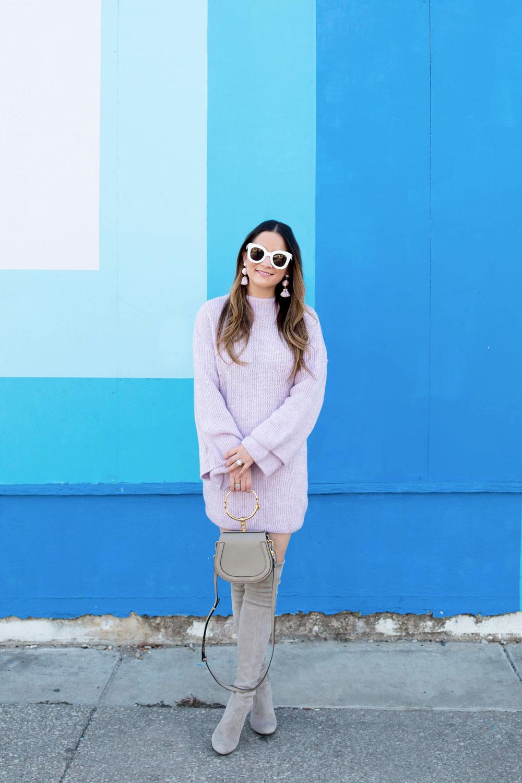 ASOS Lilac Sweater Dress