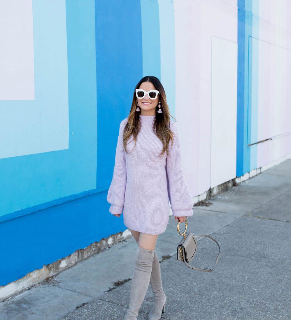 ASOS Purple Sweater Dress