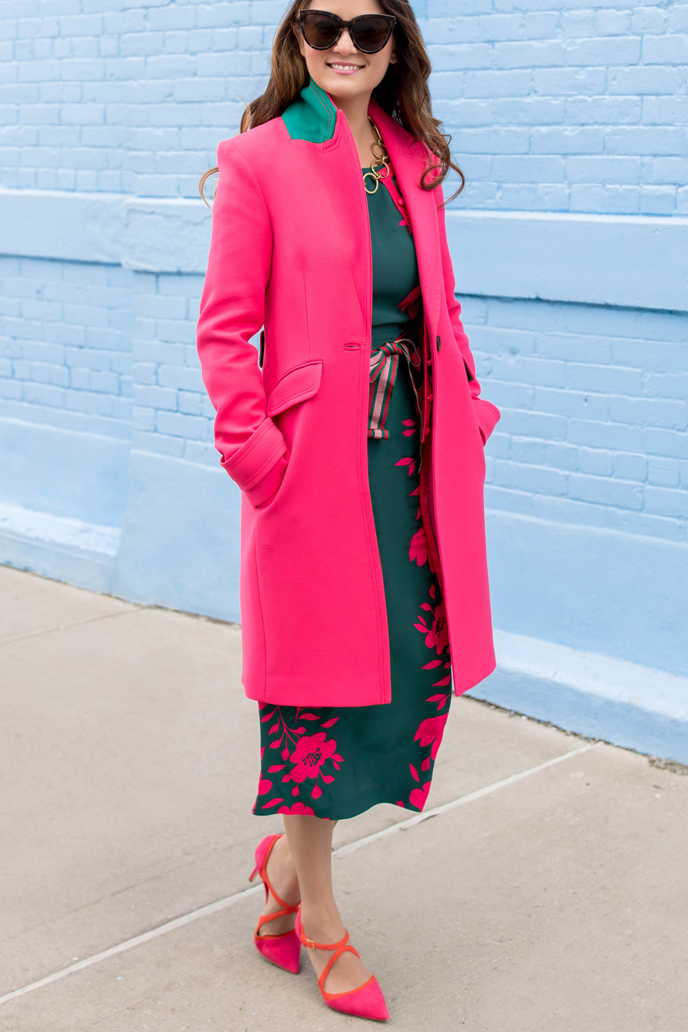 Boden Bright Pink Top Coat