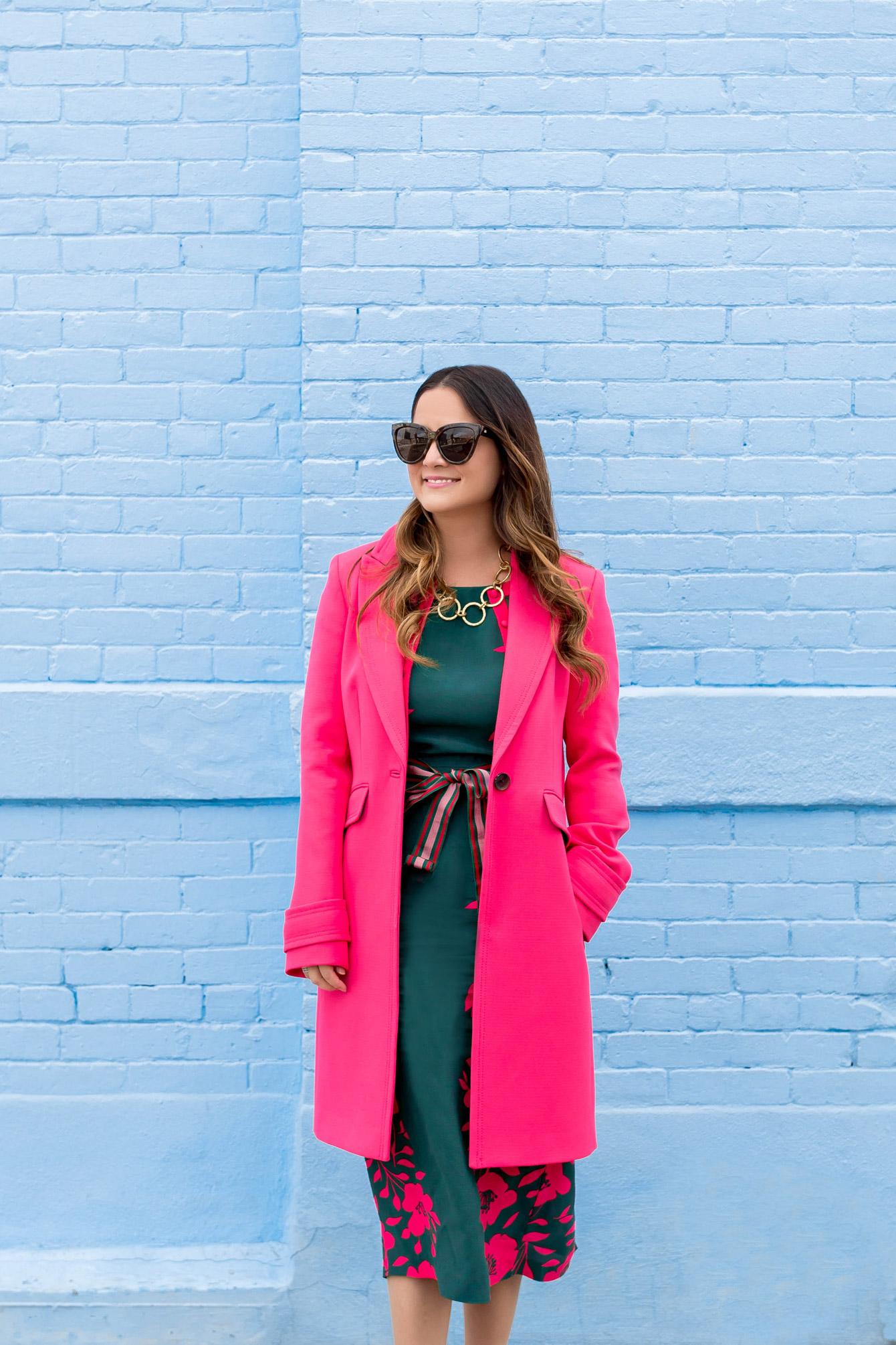 Boden Pink Aileen Coat
