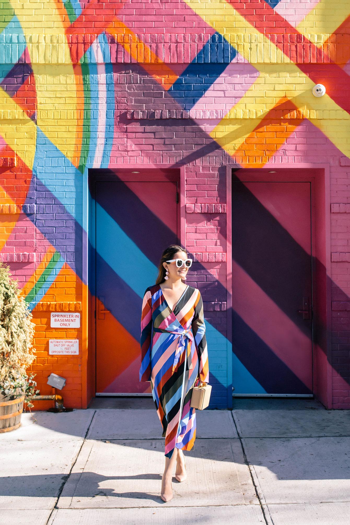 Dvf Multicolor Stripe Wrap Dress At A Colorful Stripe