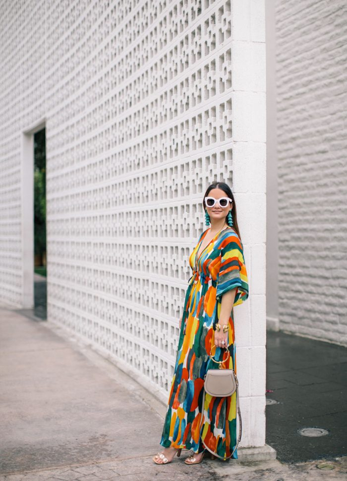 Watercolor Print Caftan at The Parker Palm Springs