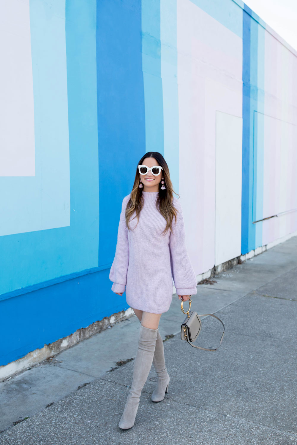 Lila Purple Sweater Dress