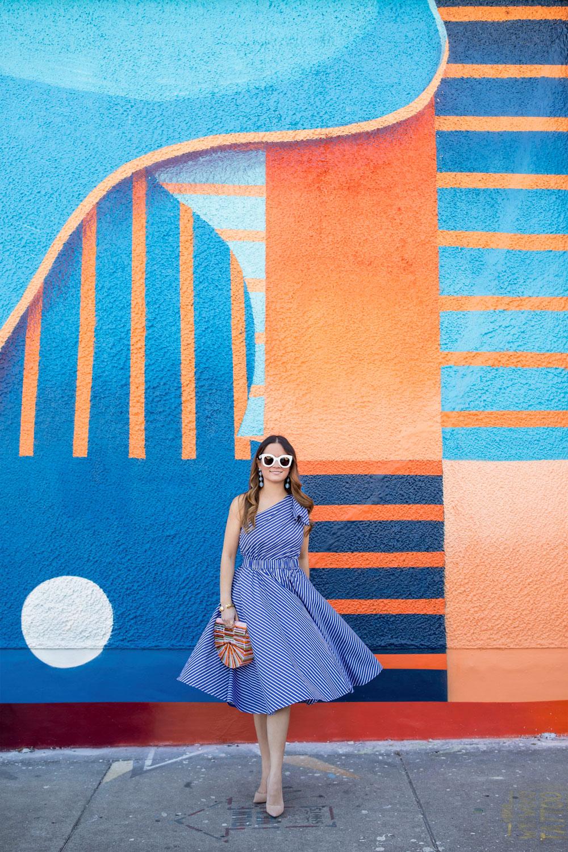 Orange Blue Mural Wynwood Miami