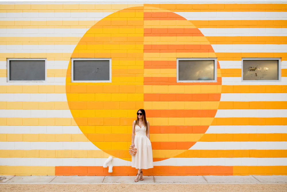 Orange Yellow ACE Hotel Mural Palm Springs