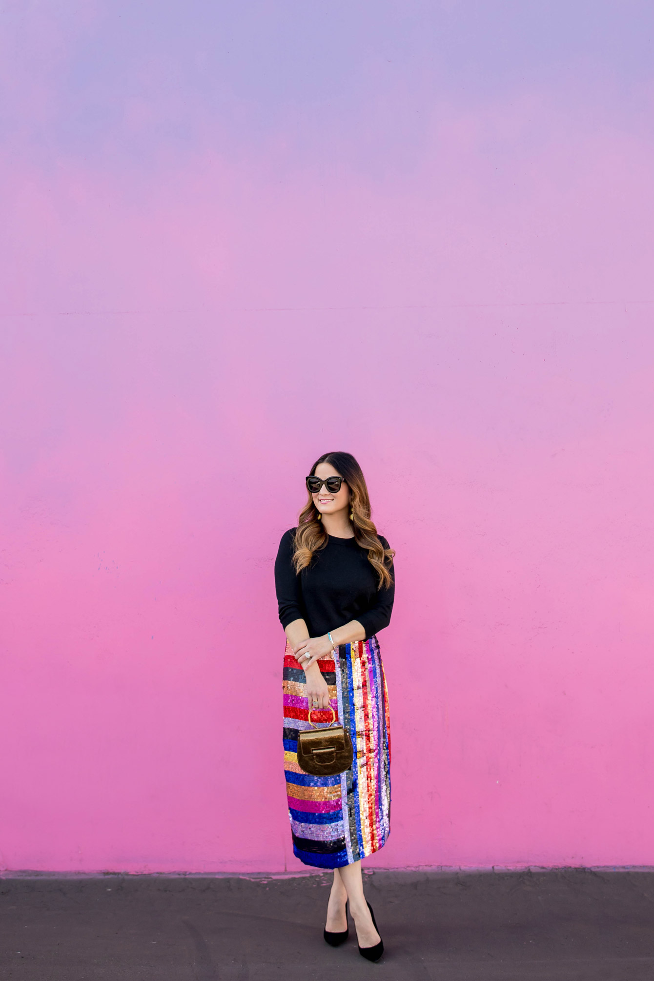 Pink Blue Ombre Wall Los Angeles