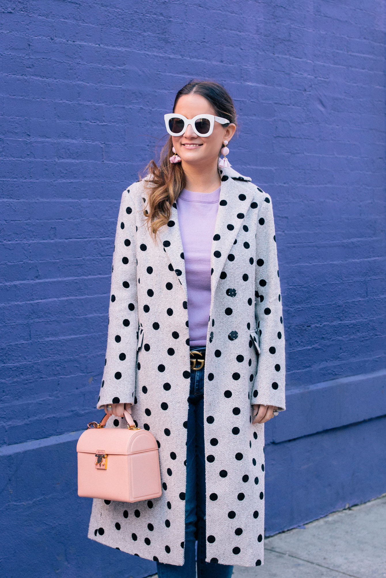 ASOS Black Polka Dot Coat