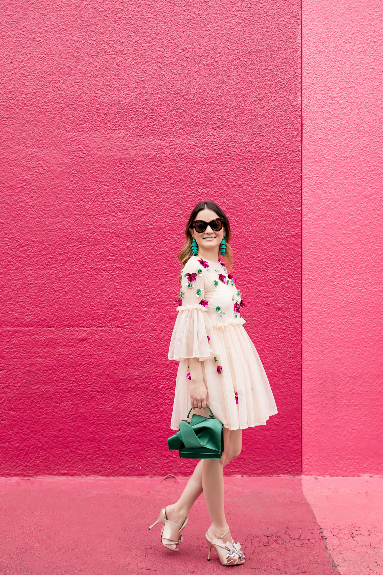 ASOS Pink Tulle Embellished Dress