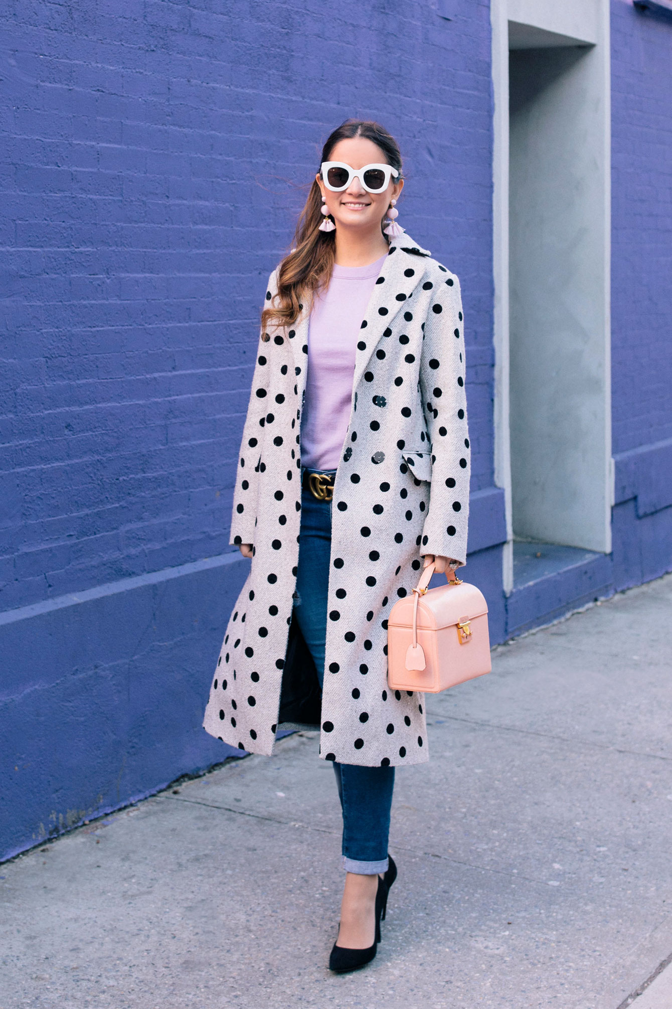 ASOS Polka Dot Coat