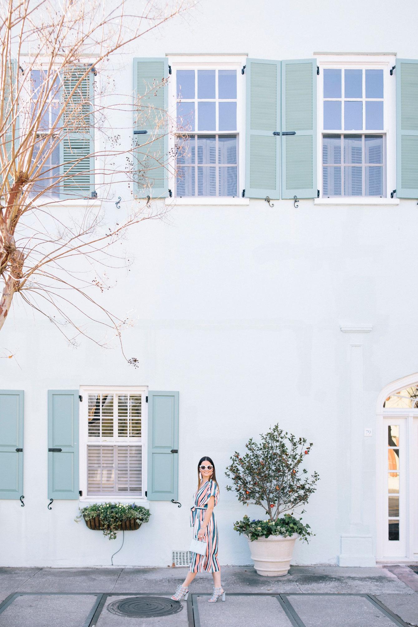 Green Building Rainbow Row Charleston