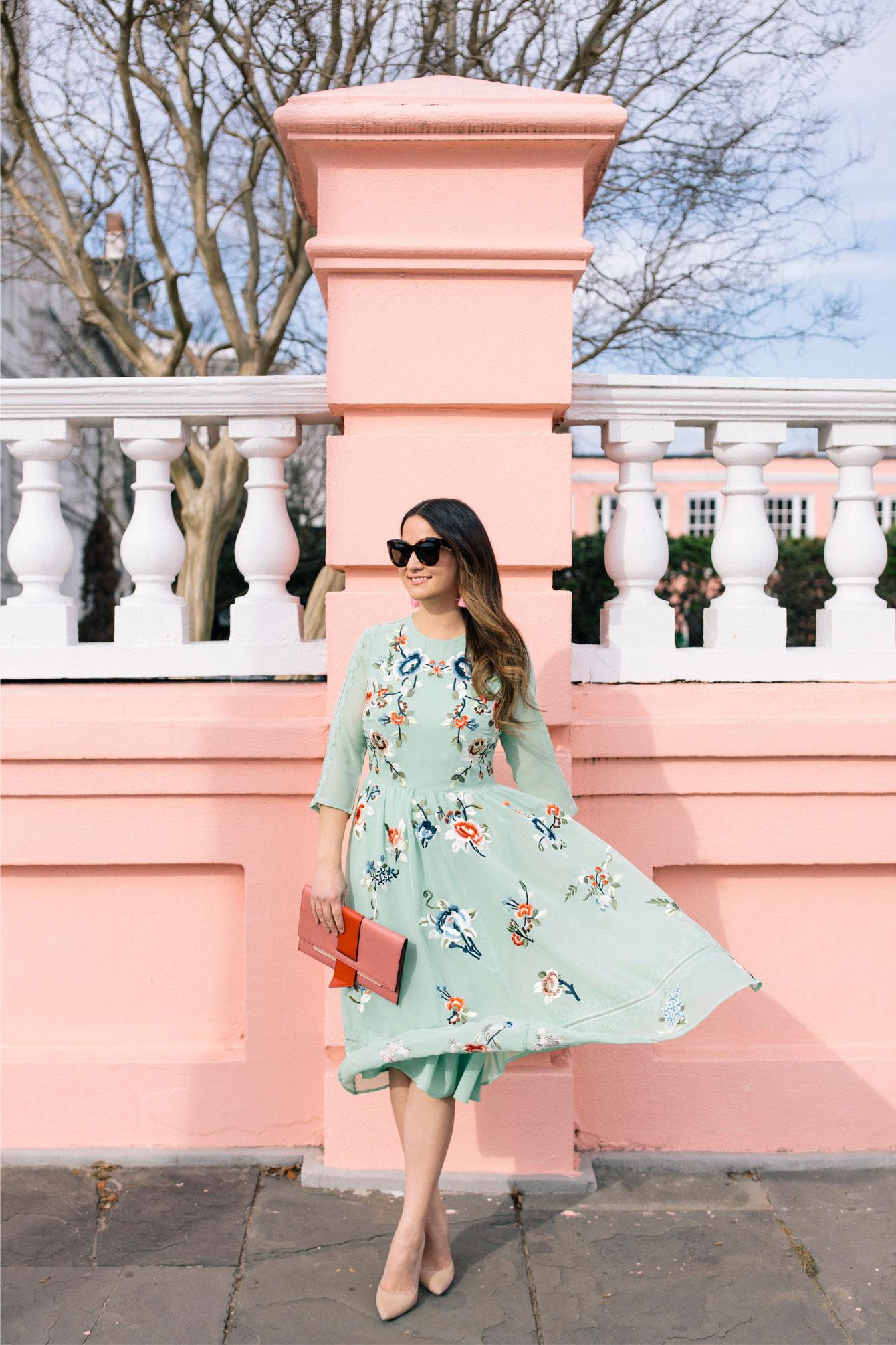 Jennifer Lake Green Dress Charleston