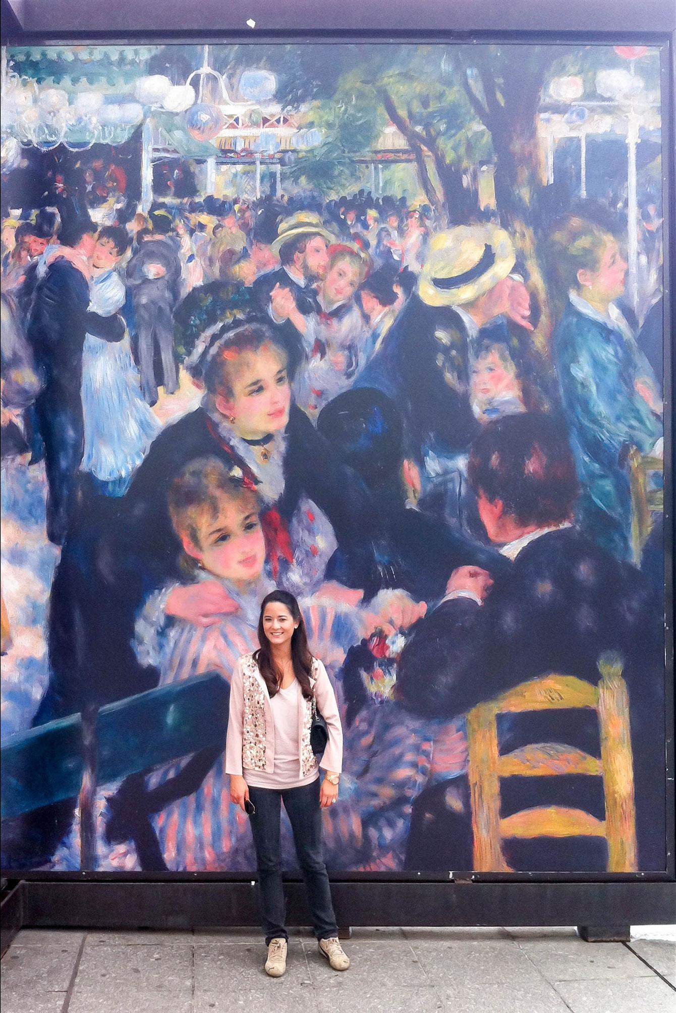 Jennifer Lake Musee d'Orsay Mural