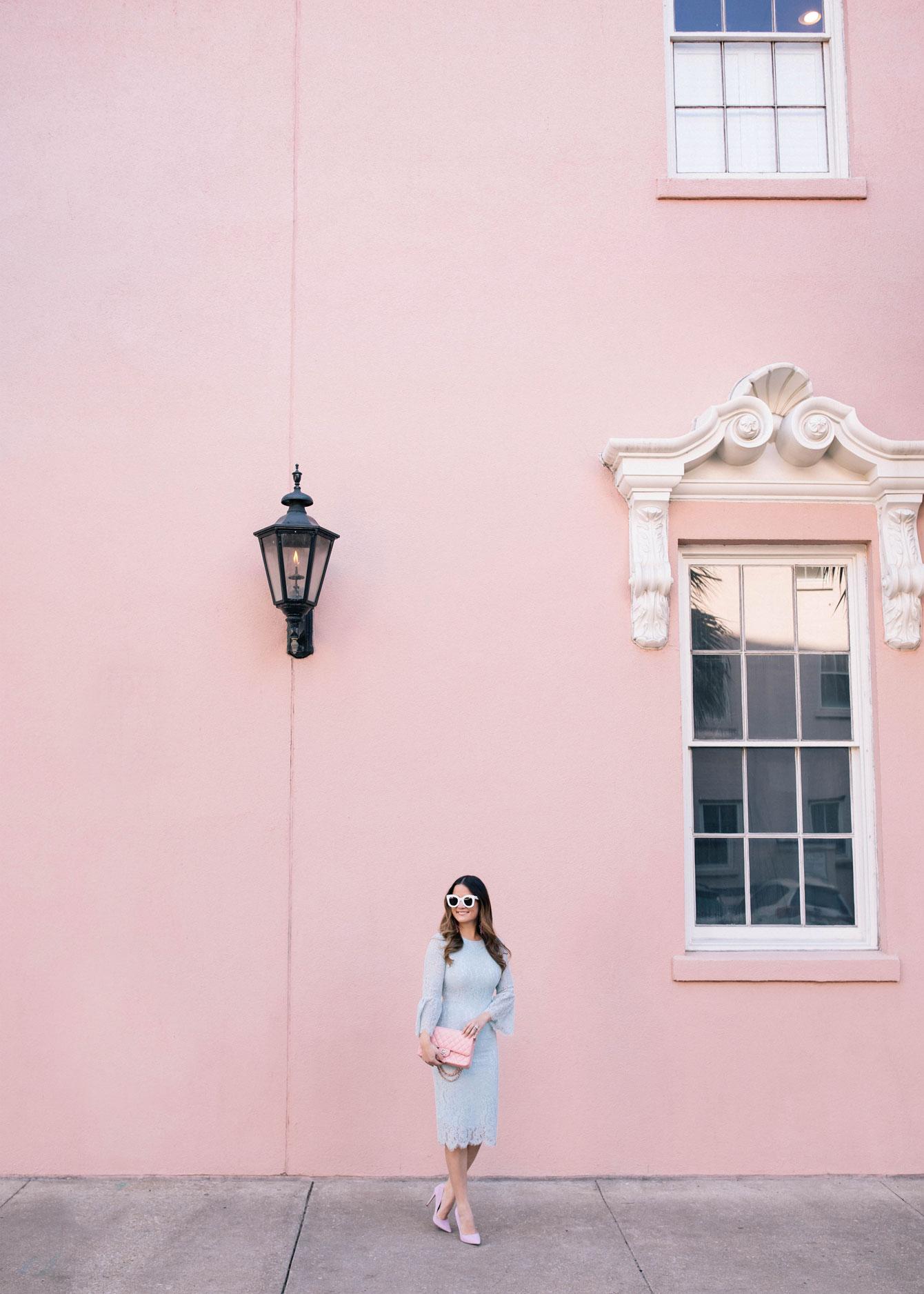 Pink Building White Trim Charleston