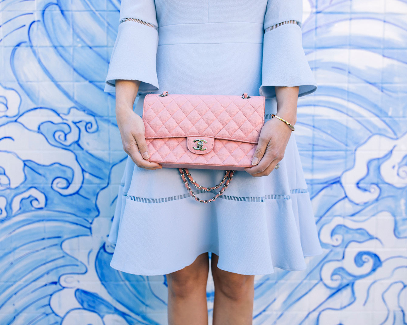 Pink Chanel Classic Flap Bag