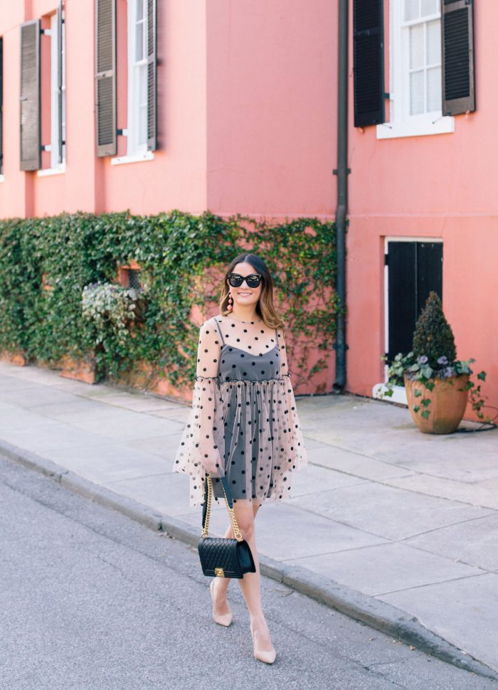 Polka Dot Tulle Dress in Charleston