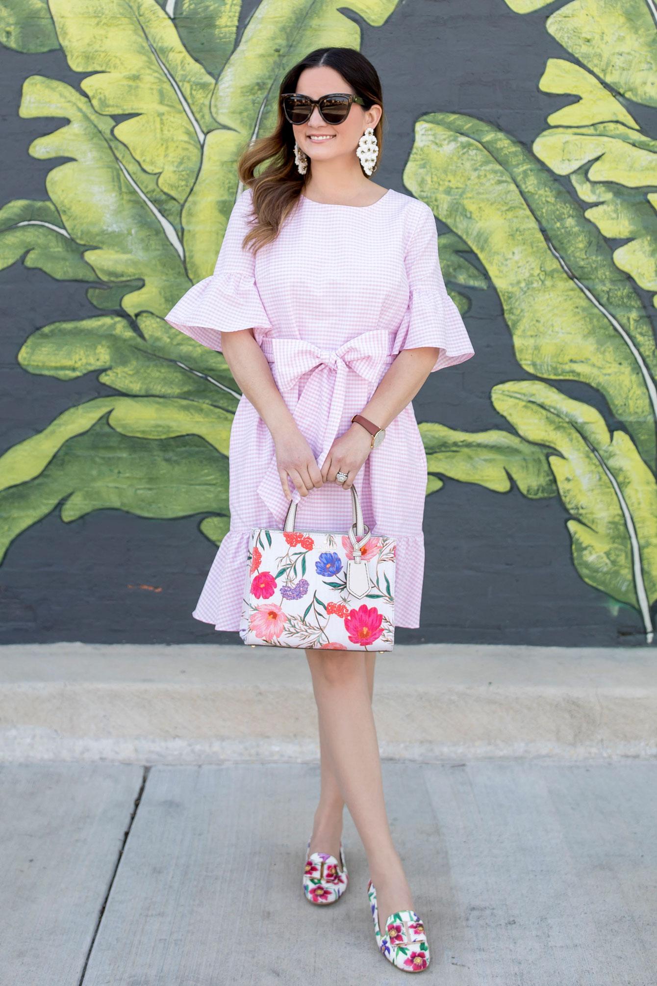 1901 Pink Gingham Ruffle Dress