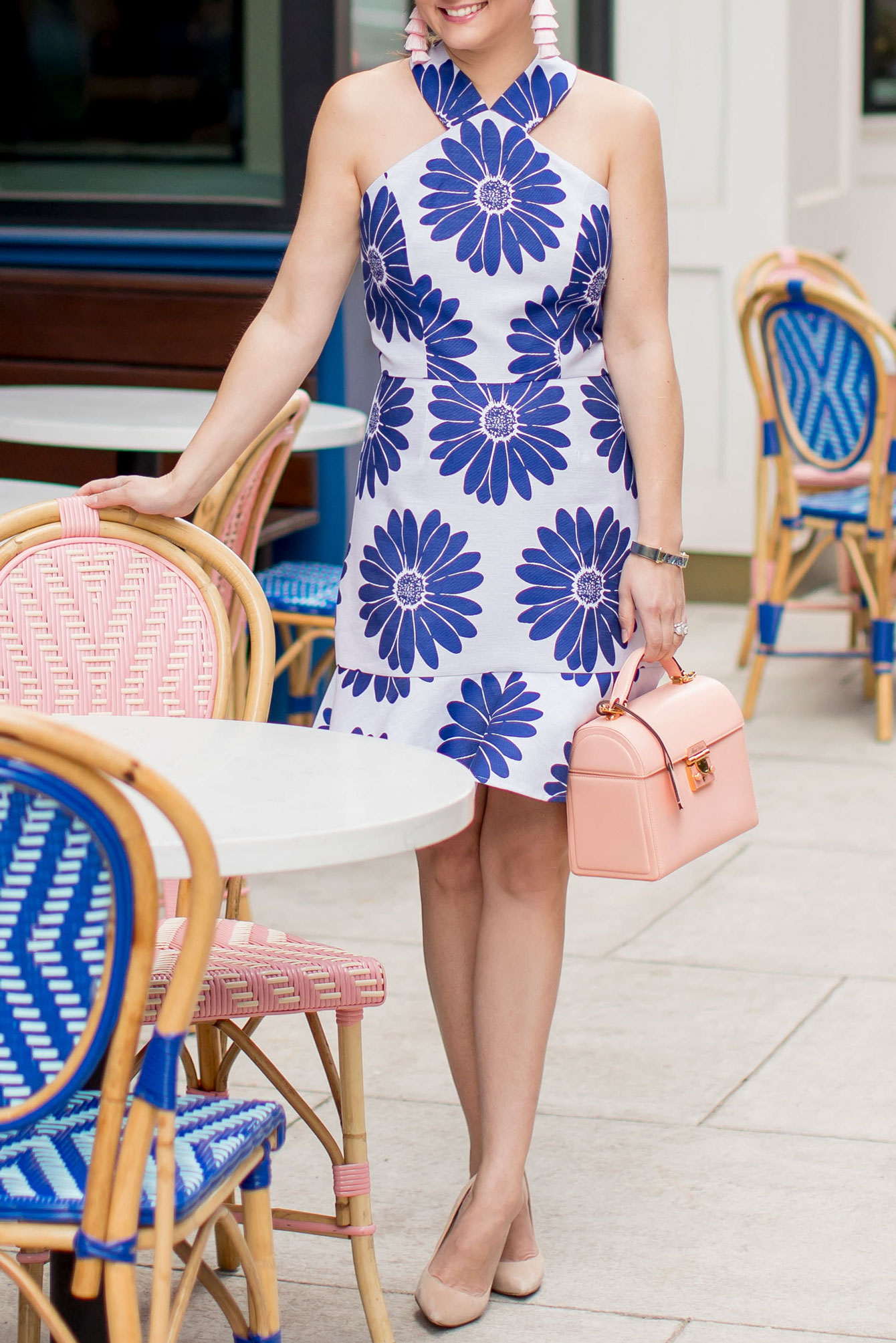Anthropologie Blue Floral Dress