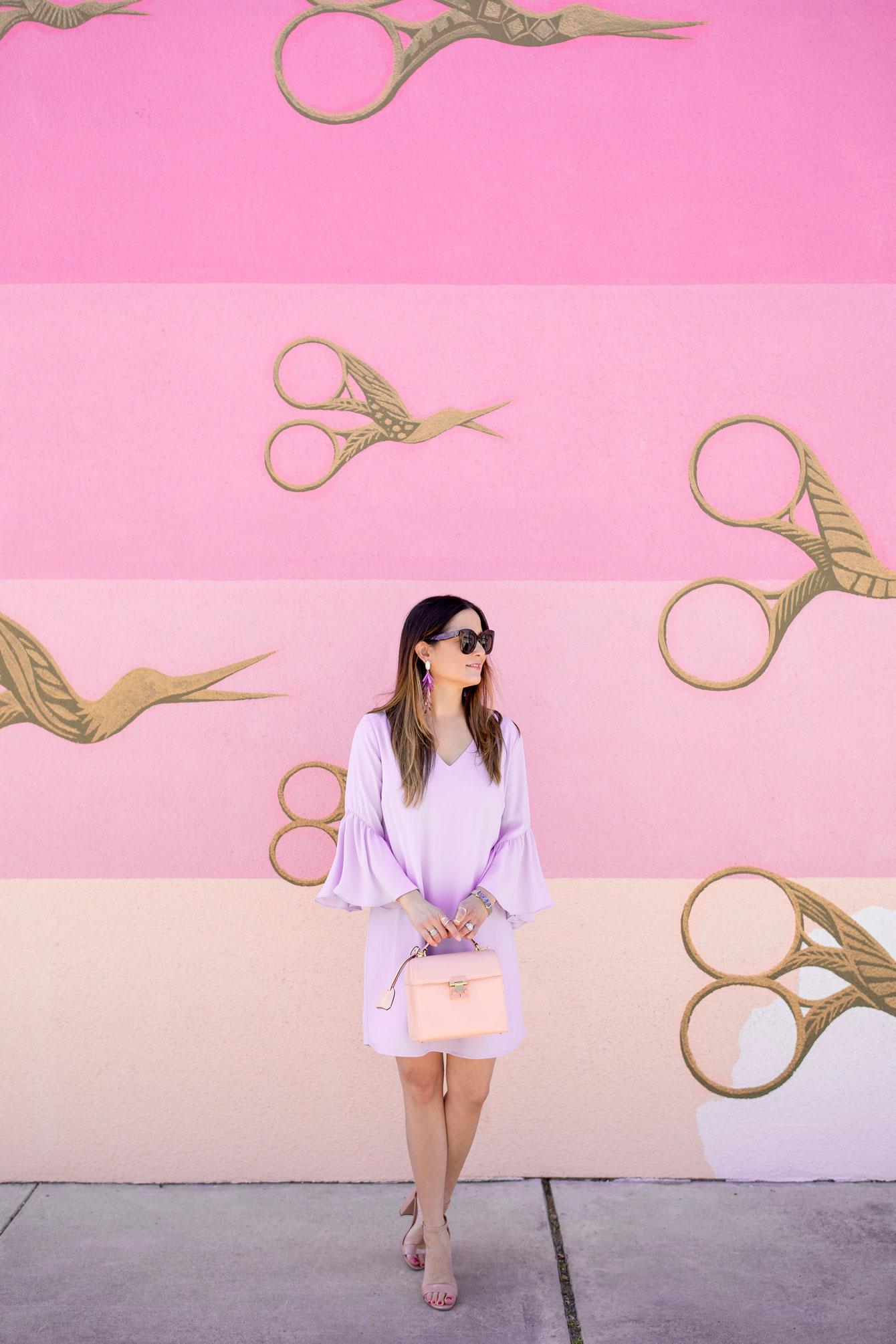 Austin Pink Scissors Mural