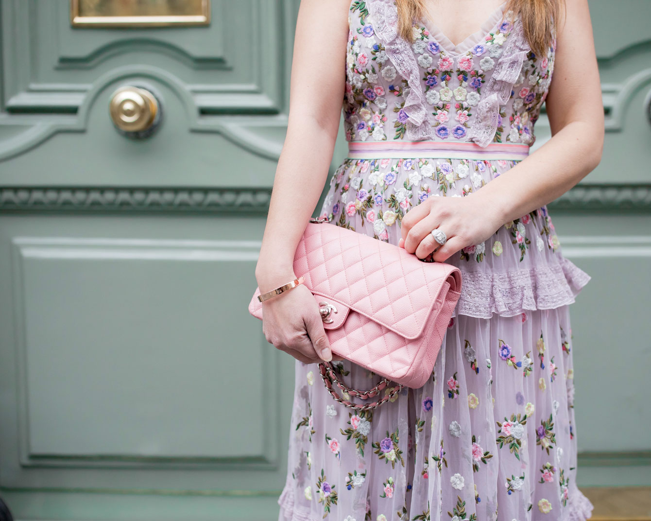 Chanel Classic Pink Chain Flap Bag