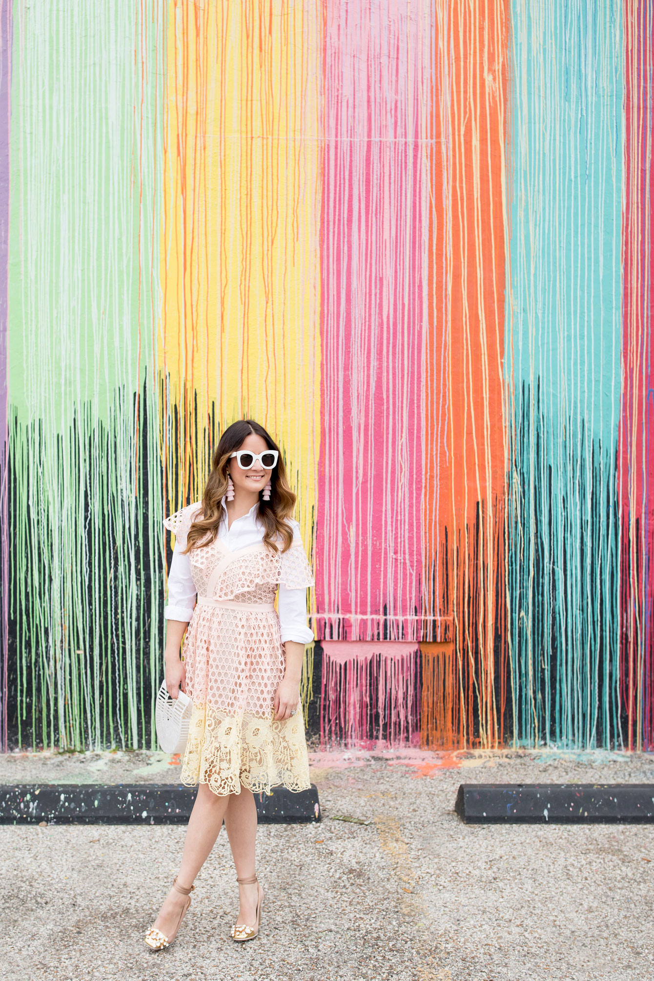 Dripping Rainbow Paint Mural Houston