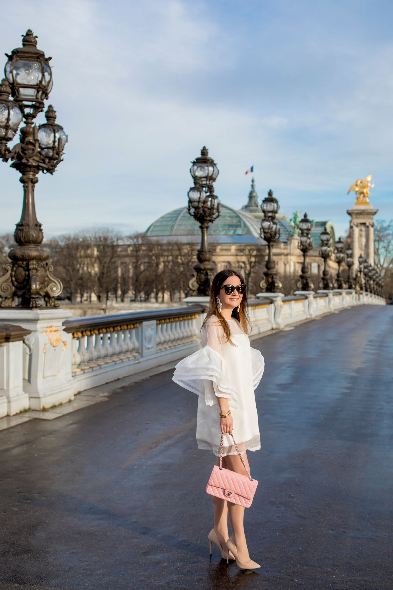 Fashion Blogger Paris Pont Alexandre III Bridge