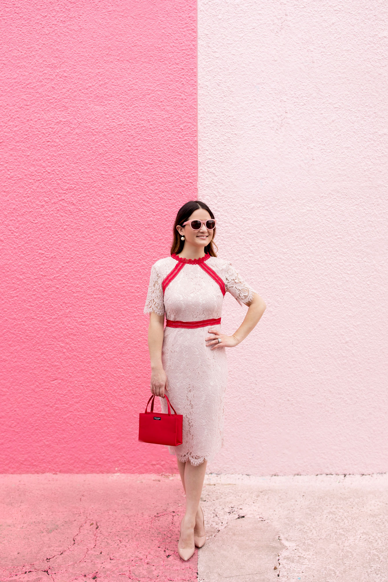 Houston Ombre Pink Wall