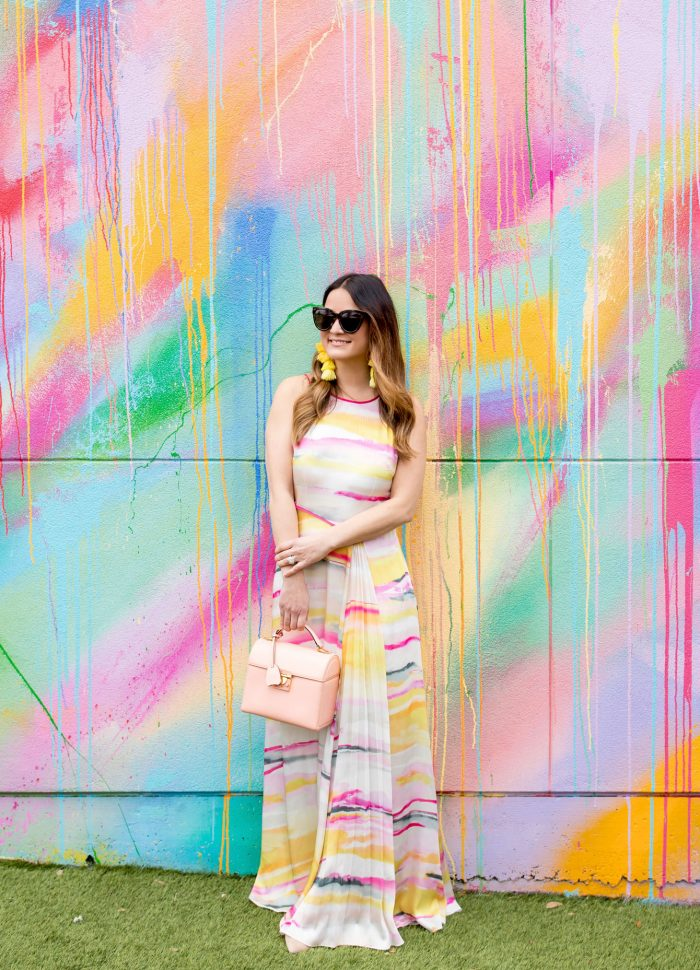 Watercolor Print Maxi Dress in Houston