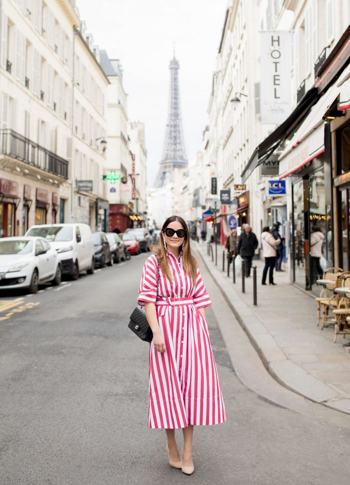 Rachel Antonoff Red Stripe Dress in Paris