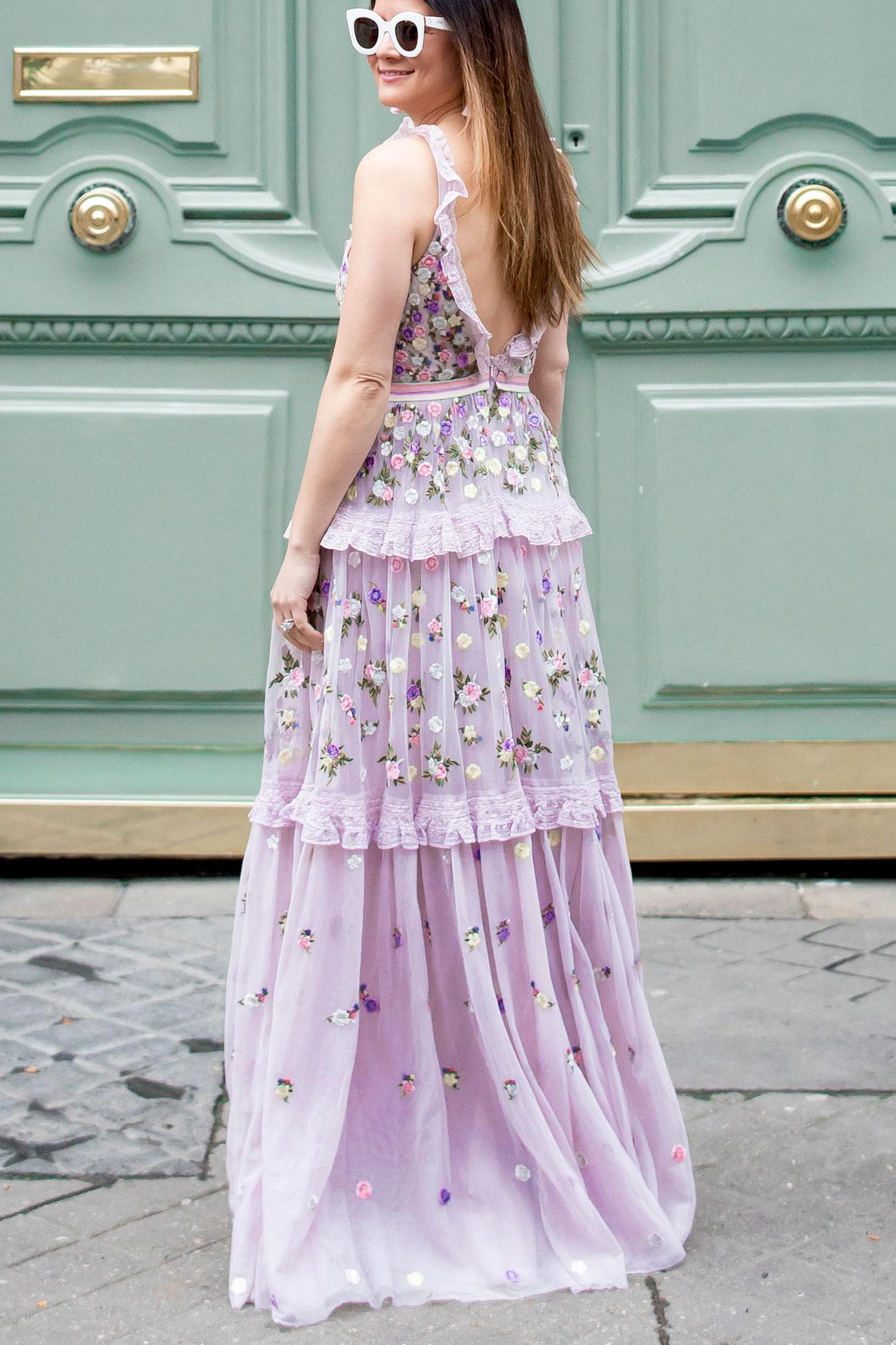 Jennifer Lake Lilac Embellished Gown
