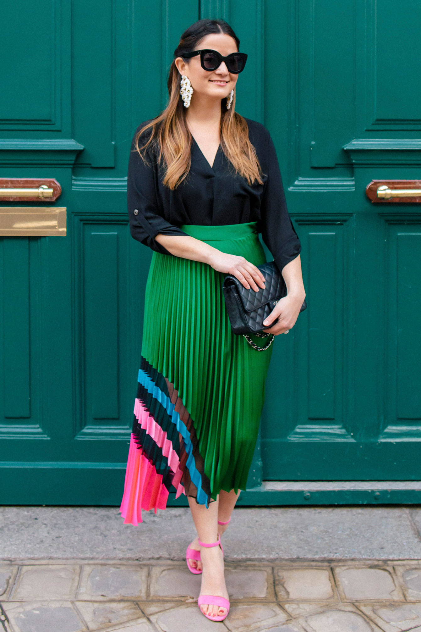 Jennifer lake Multicolor Milly Pleated Skirt