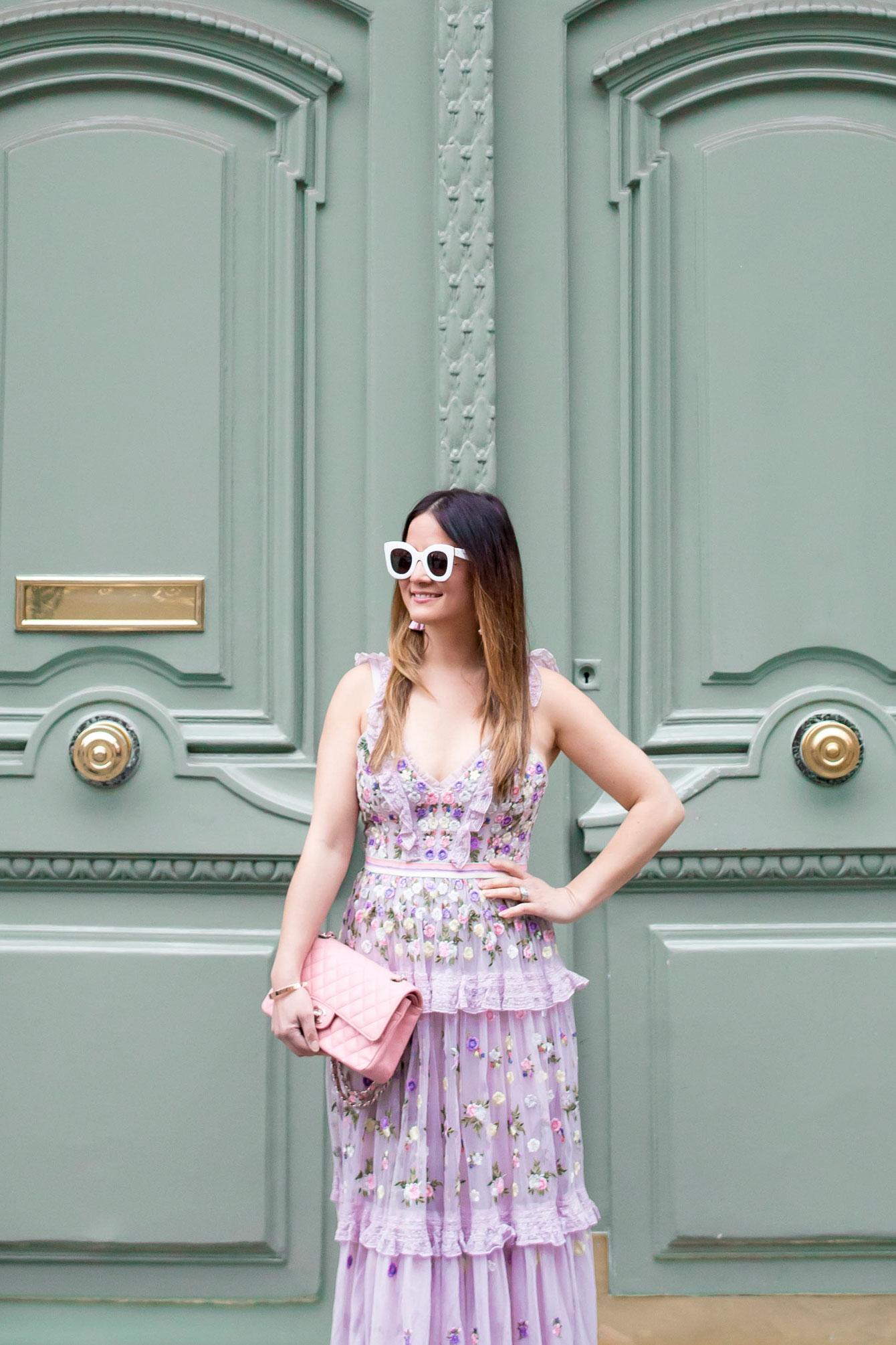 Jennifer Lake Needle Thread Lilac Gown