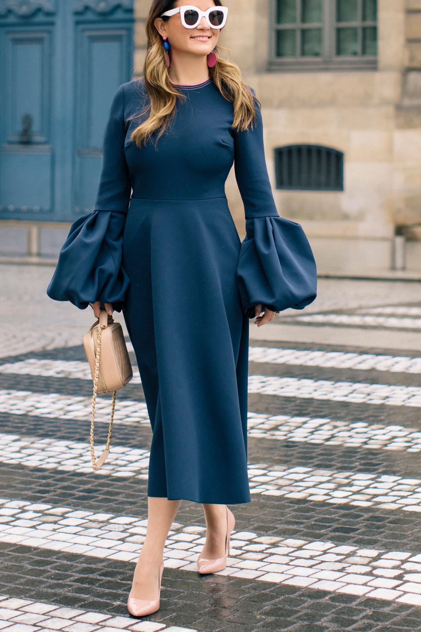 Jennifer Lake Roksanda Aylin Dress Paris
