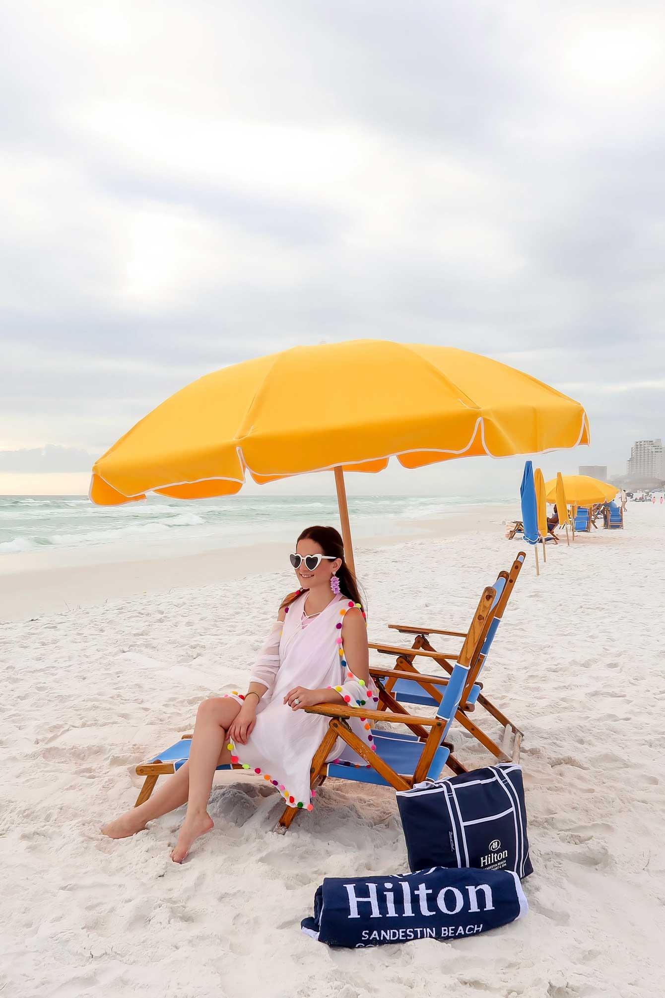 Jennifer Lake Sundress Pom Pom Cover Up