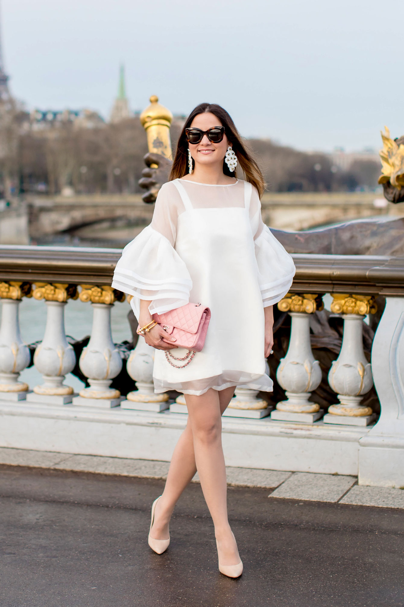 Jennifer Lake White Dress Paris