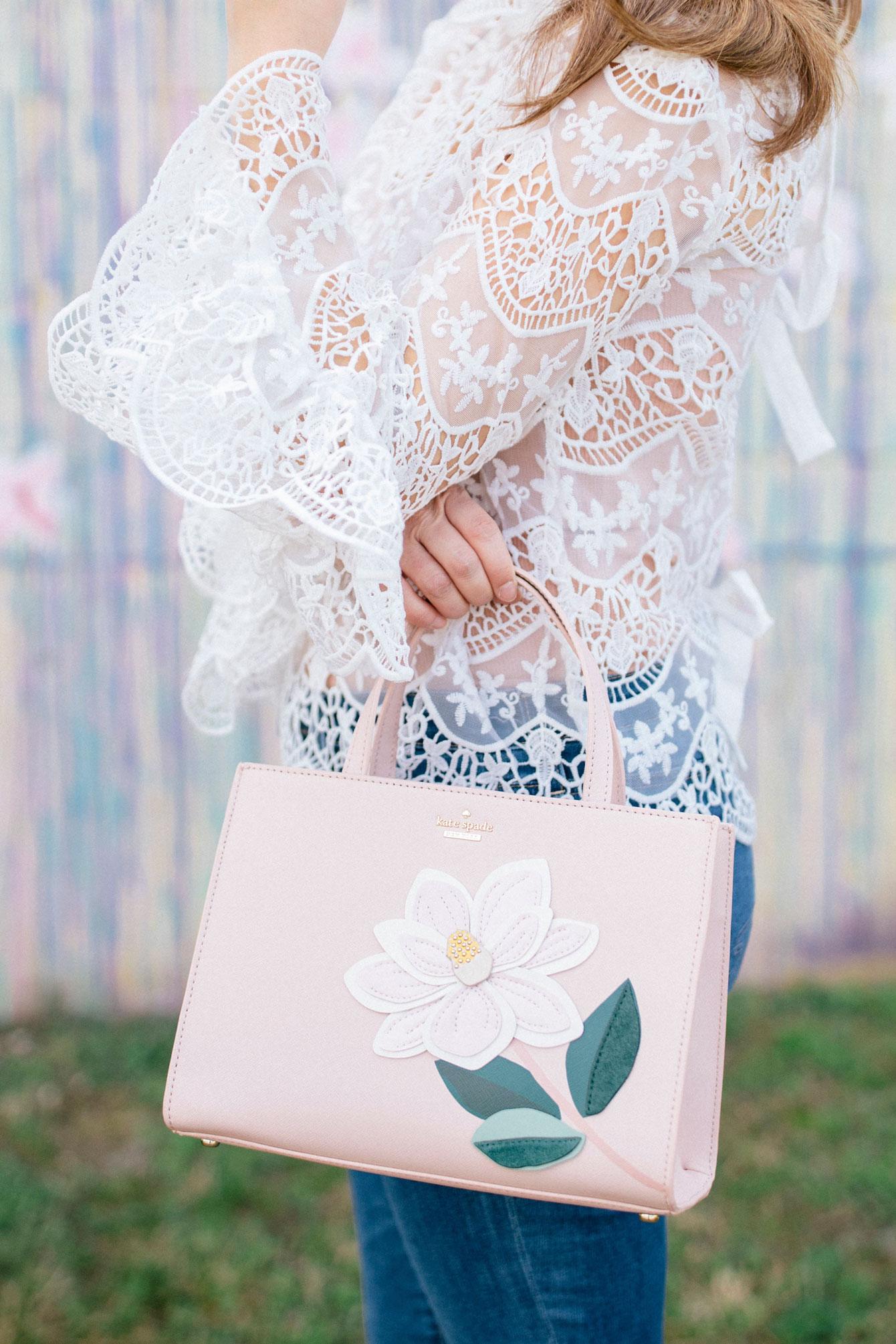 Kate Spade Pink Floral Sam Bag