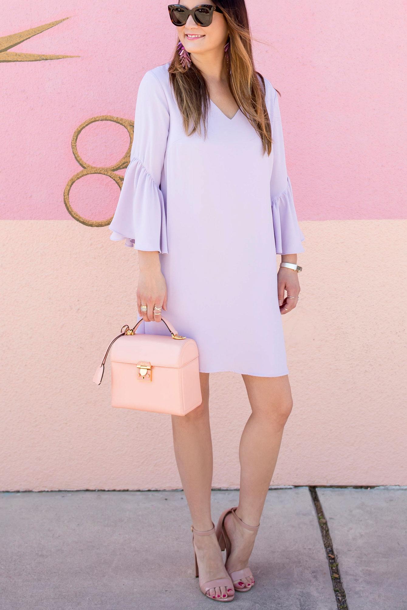 Lilac Bell Sleeve Dress