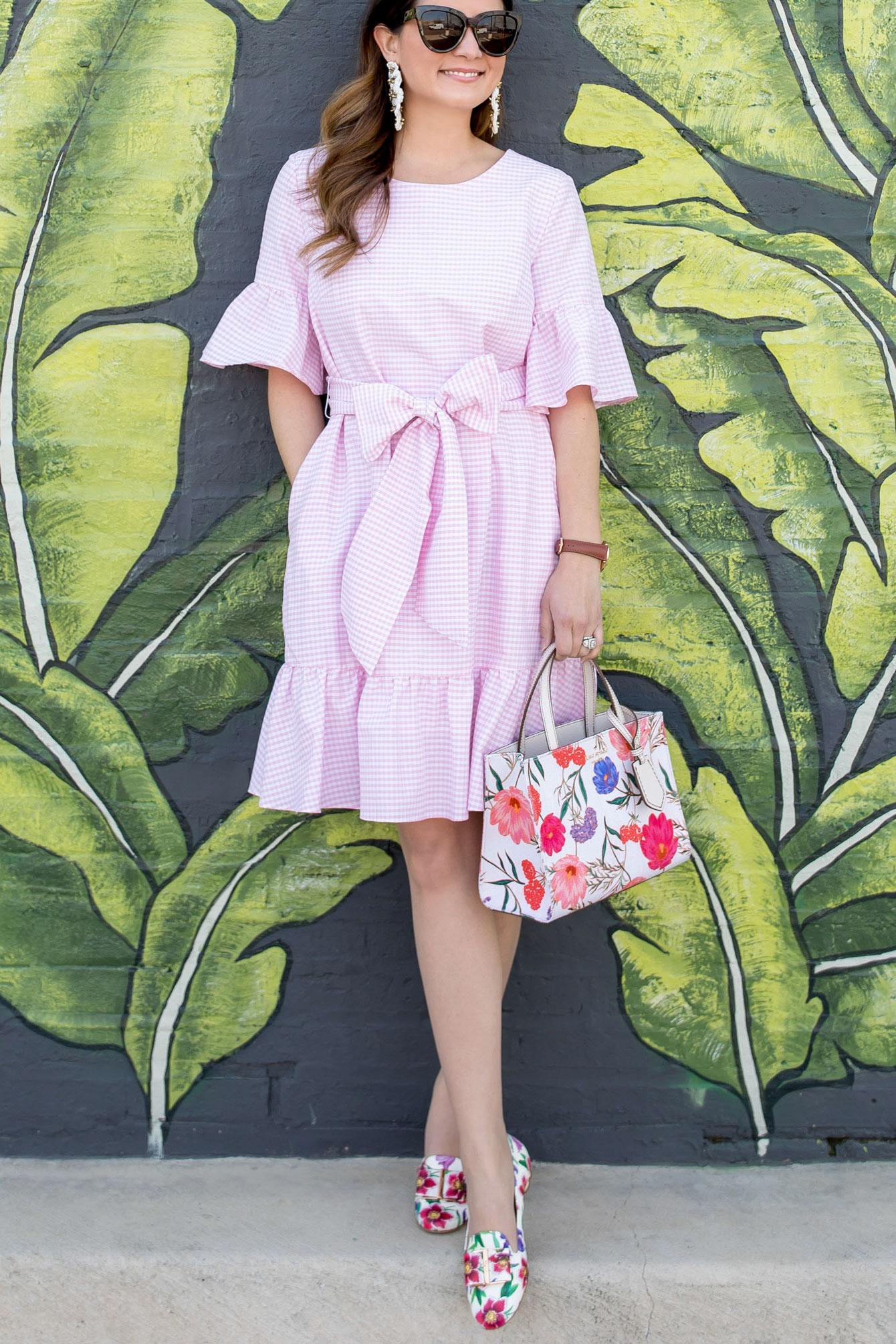 Pink Ruffle Bow Dress