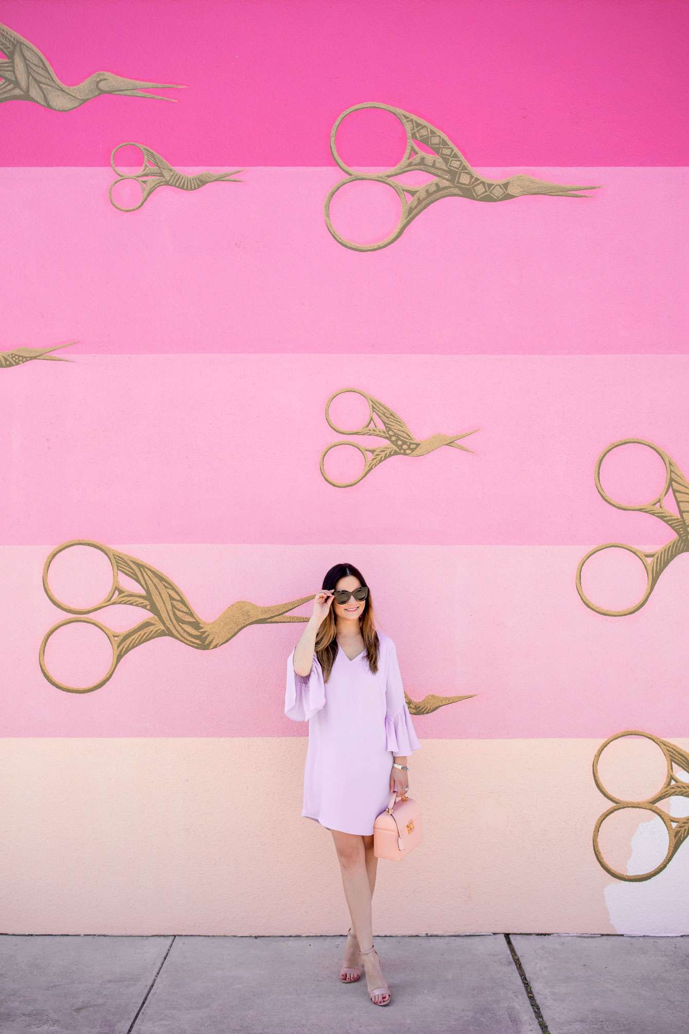 Pink Stripe Wall Austin Street Art