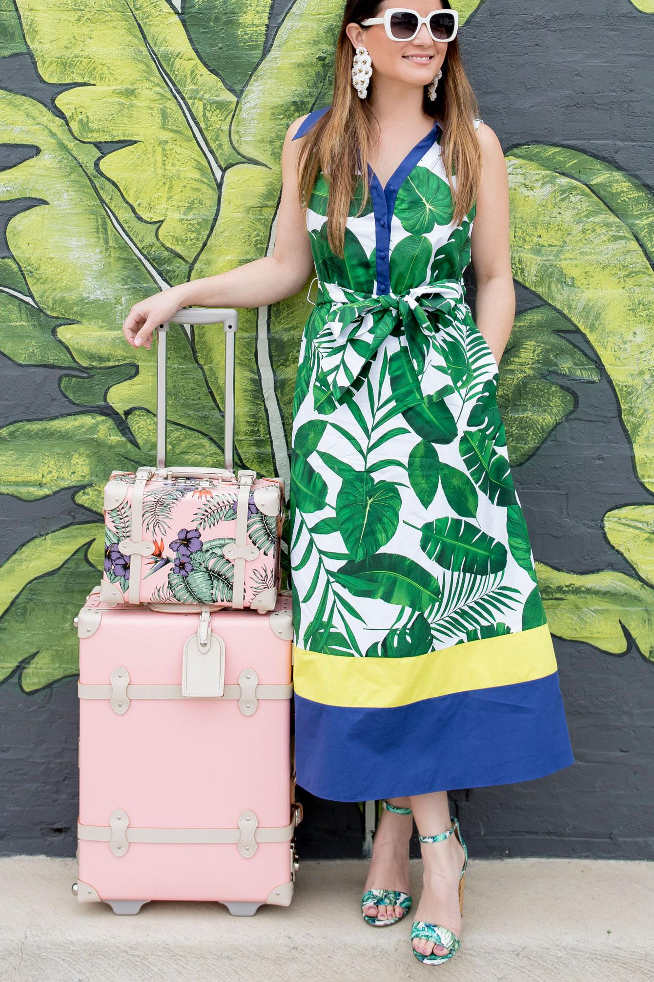 Alice and Olivia Palm Leaf Dress