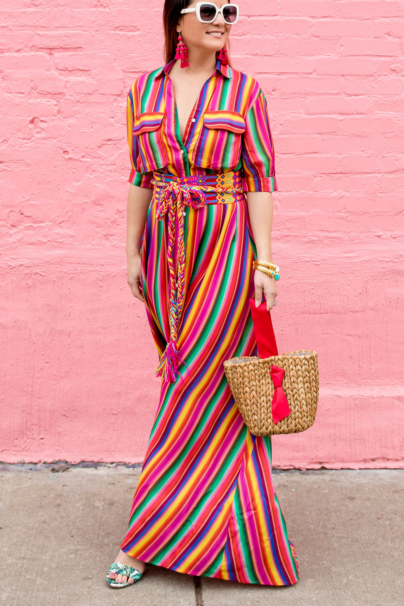 All Things Mochi Multicolor Stripe Maxi
