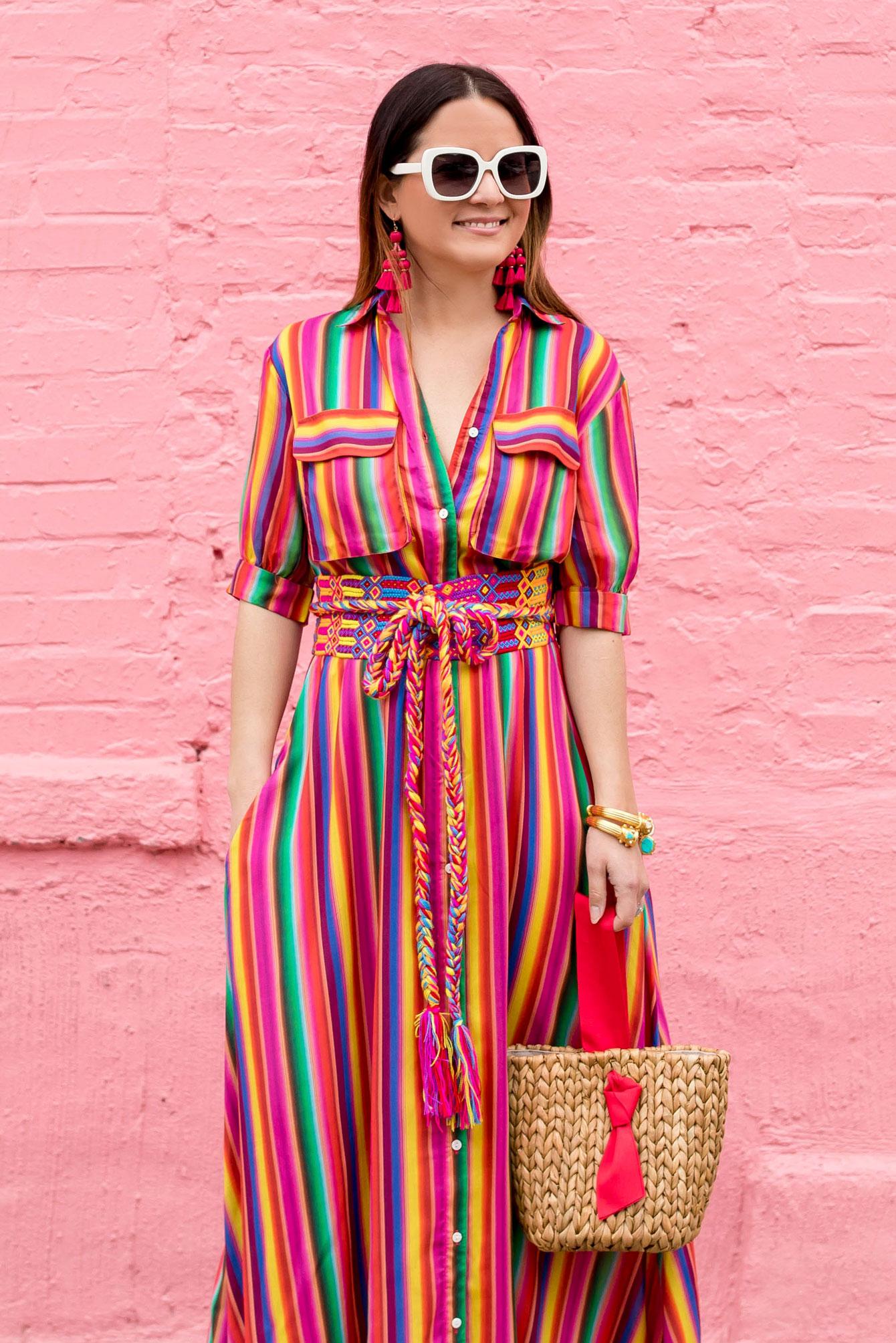All Things Mochi Rainbow Stripe Dress