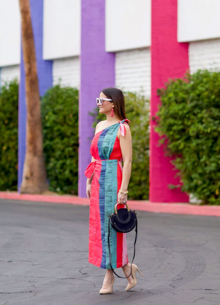 Mara Hoffman Multicolor One Shoulder Dress in Palm Springs