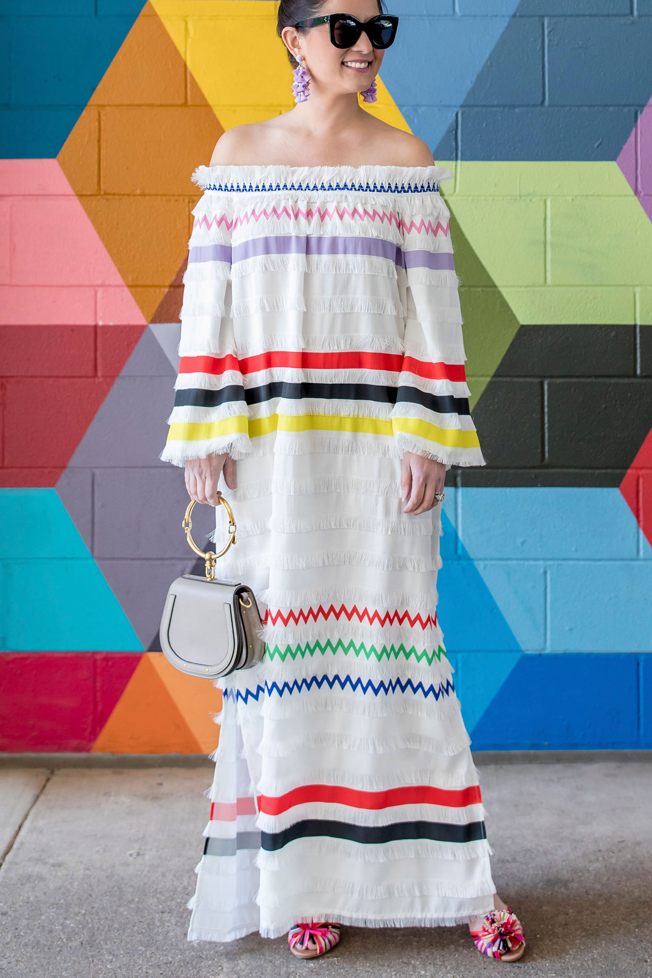 Cynthia Rowley Ditch Plains Fringe Maxi Dress