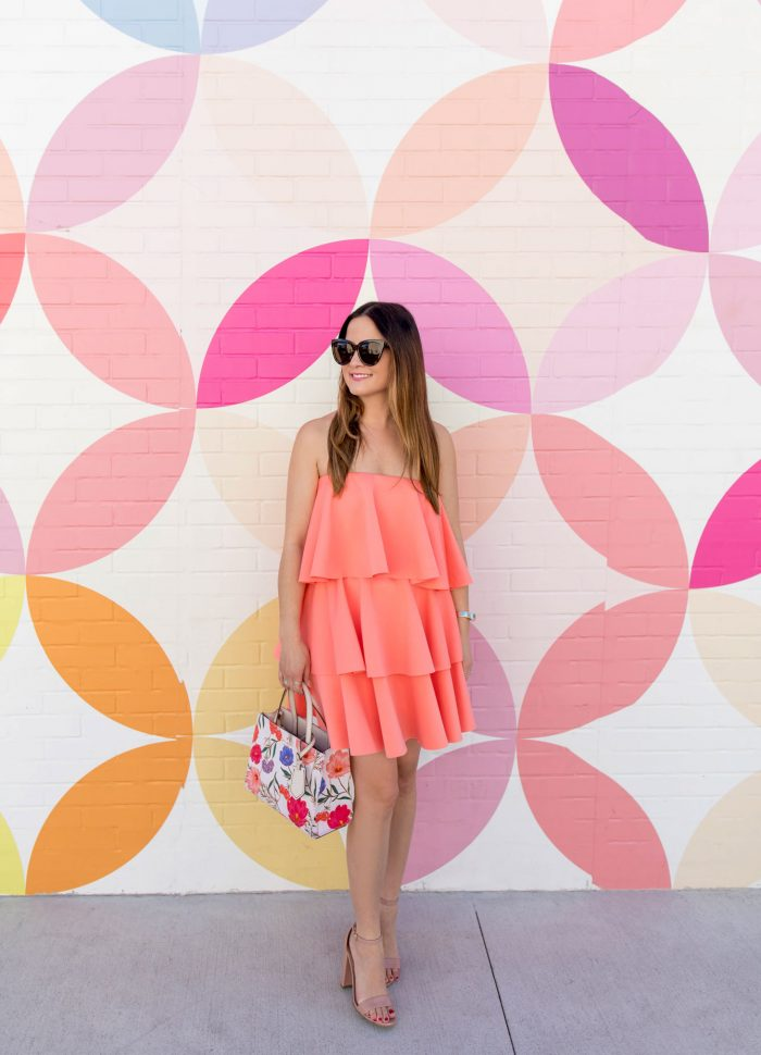 Coral Off Shoulder Ruffle Dress in Austin, Texas